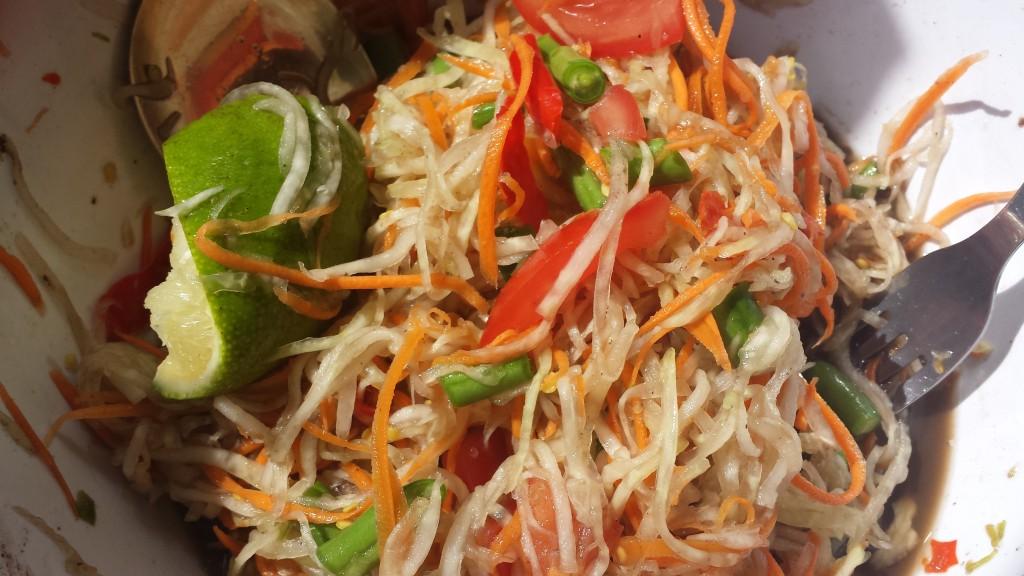 Som Tam – Pittige papaja salade
